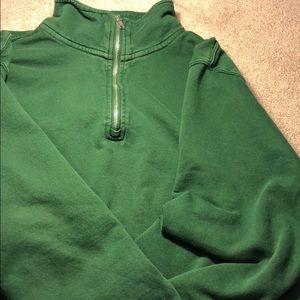 Green brandy Melville quarter zip